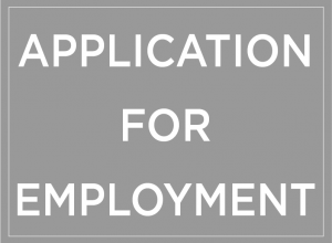 Application for Employment Button